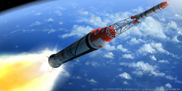 HEAT-1600 taking TDS-II on a suborbital trajectory to Space. Image: Carsten Brandt.