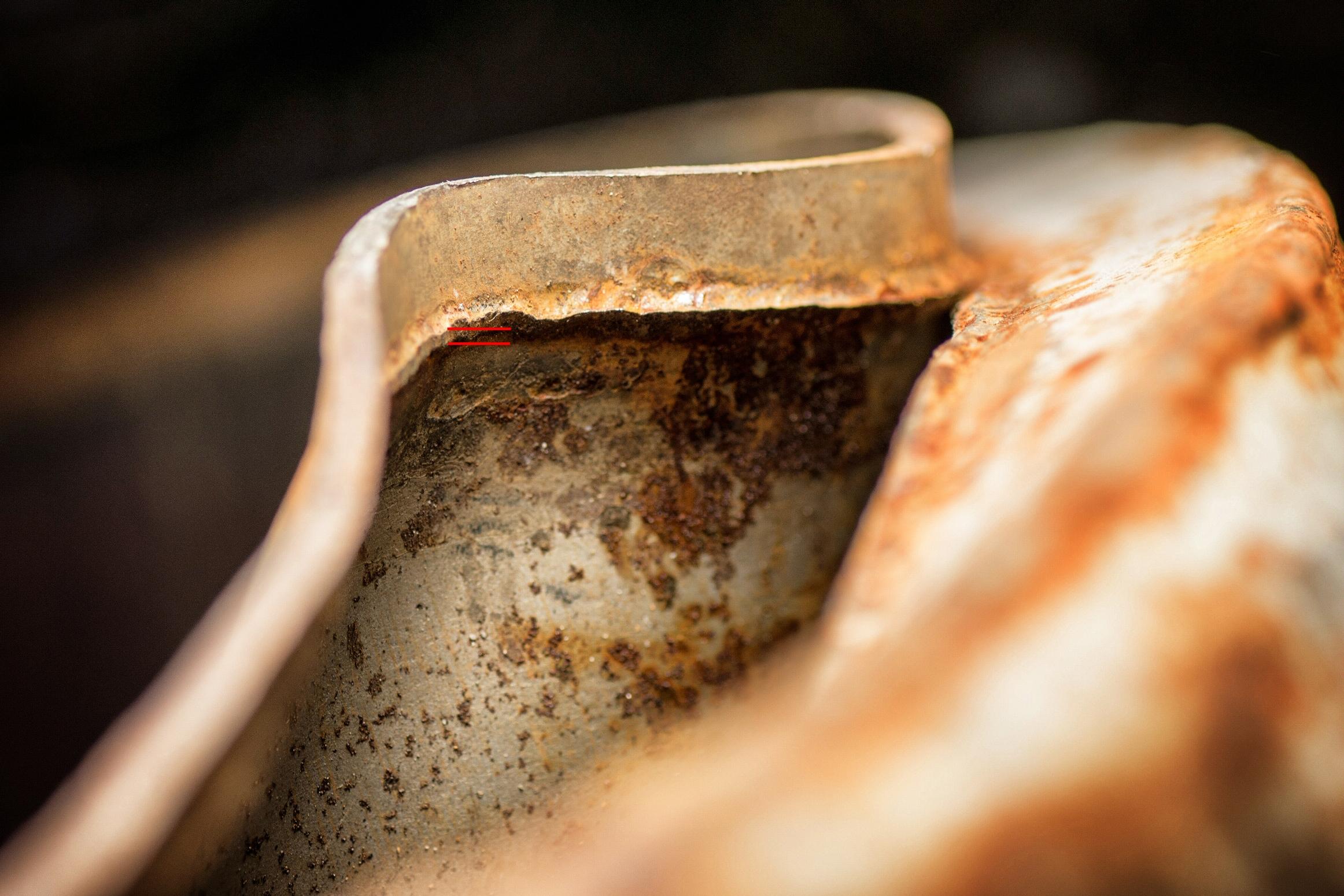 FIG. 5: The broken weld with poor A-measure. Photo: Carsten Olsen/CS.