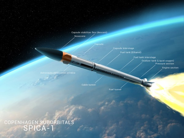 First design of the Spica rocket.