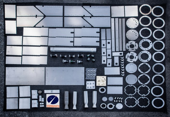 Build-a-rocket-kit! All of the laser cut parts for Nexø I & II and parts for BPM5 sn.002 and sn.003 in a single picture.