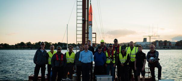 A tired and happpy crew after a successful Sea Acceptance Test. Nexø I is now 100% ready to fly!