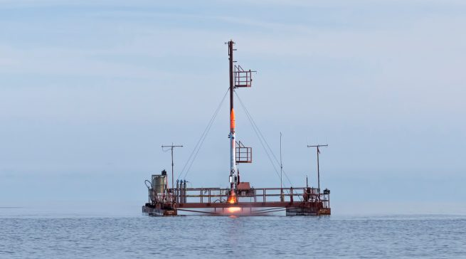 Nexo 1 launch (Credit: Copenhagen Suborbitals)