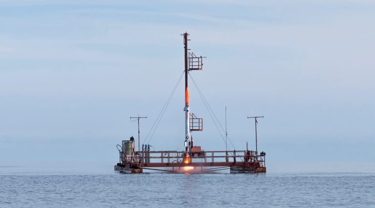 July 23rd 4:38 PM, Nexø I launches from Sputnik. Photo: Carsten Olsen.