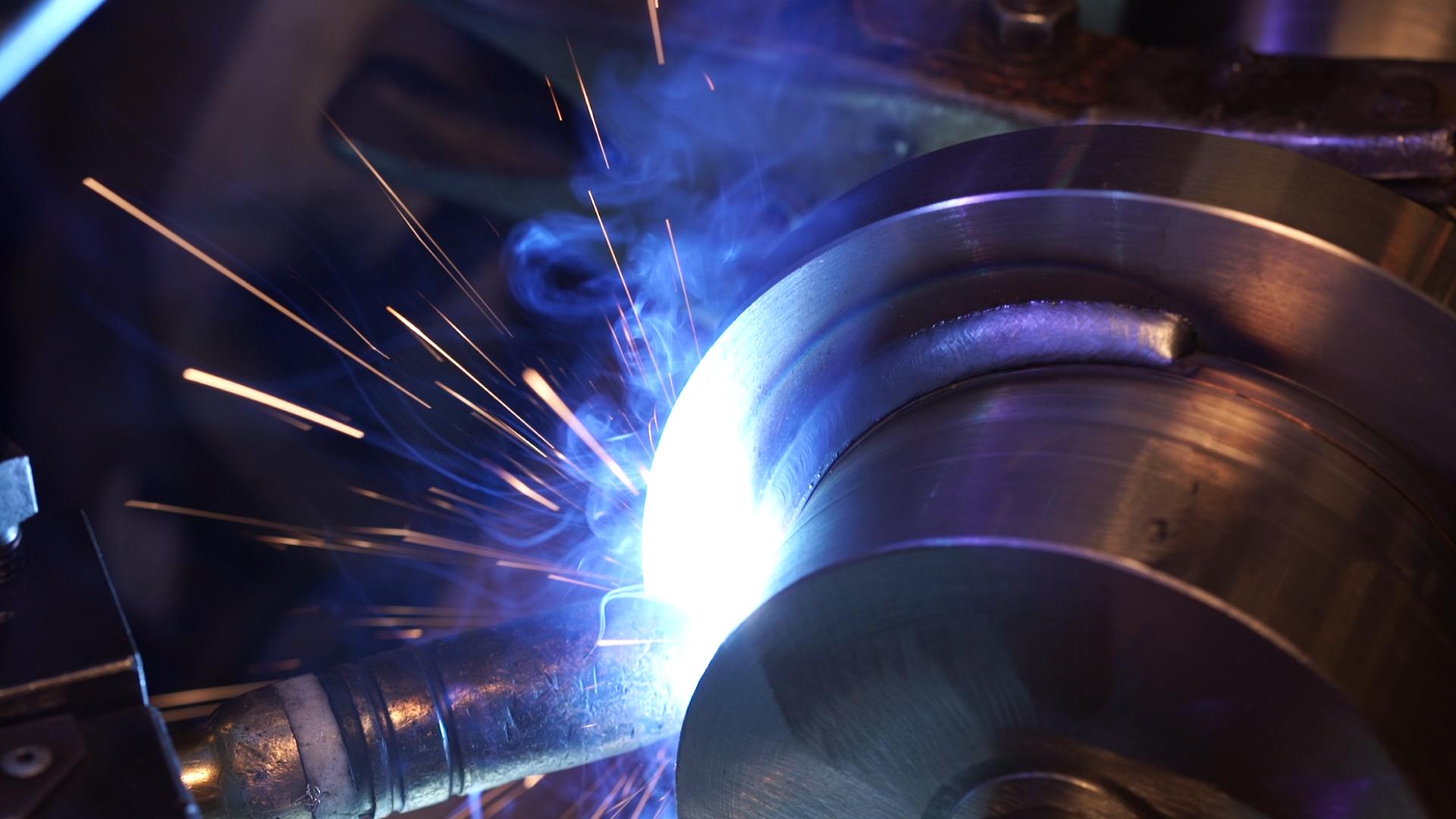Welding of an NTU engine april 2016