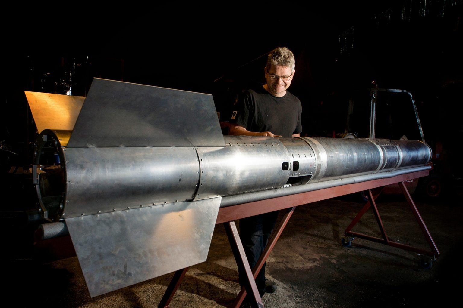 Blog author Jesper Rosendal working on Nexø II. Photo: Carsten Olsen.
