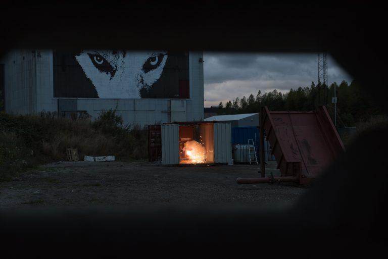 Franken 5 igniting, marking the start of a record breaking burn. Photo: Jens Bastue Jacobsen.