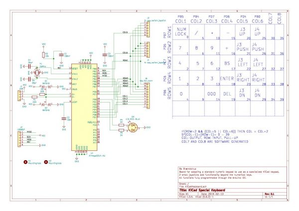 Schematic for the Kicad keypad