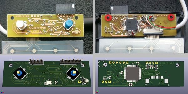 Finished board compared to 3D renderer view.